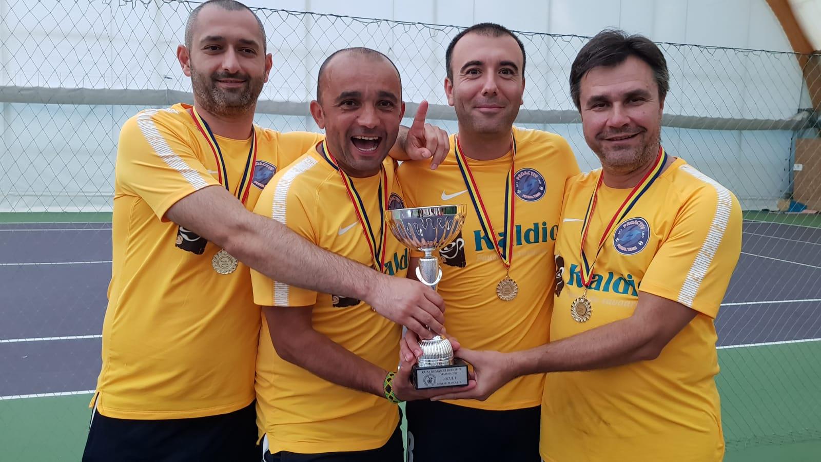 ACS ProActiv, echipa sponsorizată de Kaldio, a câștigat marele trofeu la Cupa României la fotbal tenis 2018